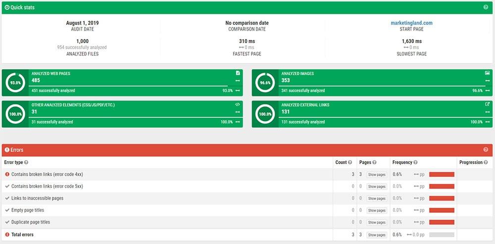 SEOprofiler - Audit tool